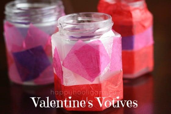 Modge Podge Valentines Votive Candle Holders for Valentines