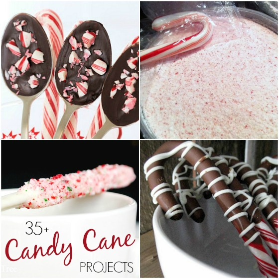 homemade candy cane stirrers