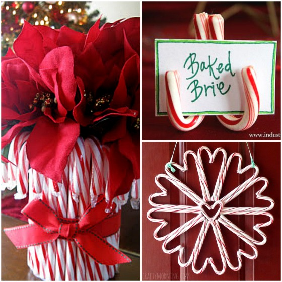 candy cane vase-candy cane place card-candy cane wreath