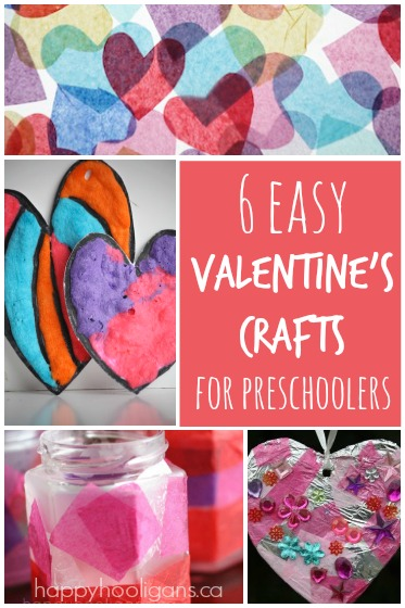 6 easy valentine 39 s crafts for kids happy hooligans for Valentines day art and crafts for preschoolers