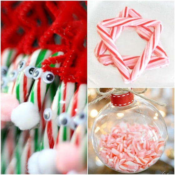 homemade candy cane ornaments