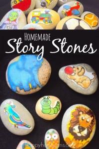 homemade story stones
