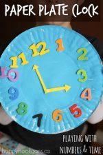 Paper Plate Clock Craft