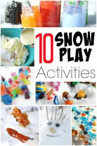 10 Fun and Creative Ways to Play with Snow - Happy Hooligans