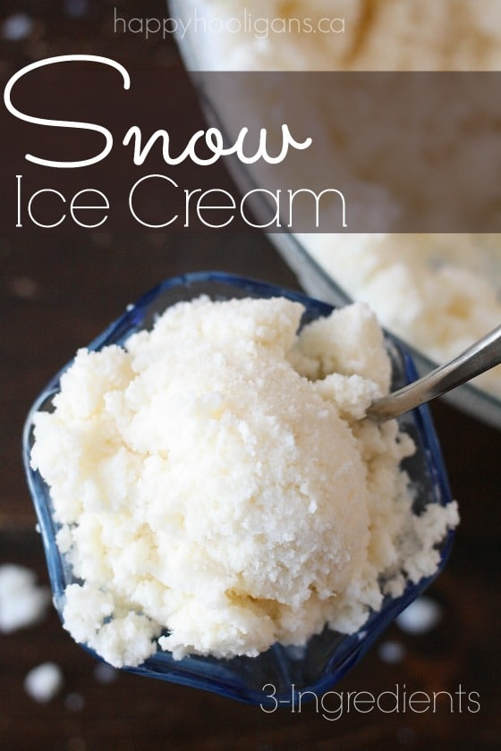 3-ingredient snow ice cream recipe