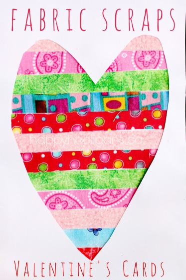 Fabric Scrap Valentine's Cards
