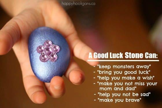 Homemade Good Luck Stone for kids