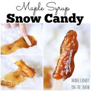 How to make maple syrup candy on the snow