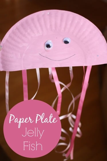 Paper Plate Jellyfish Craft For Preschool Happy Hooligans