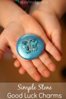Good luck stone for child