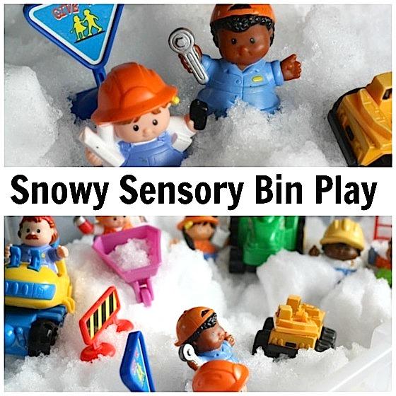 Snowy Sensory Bin