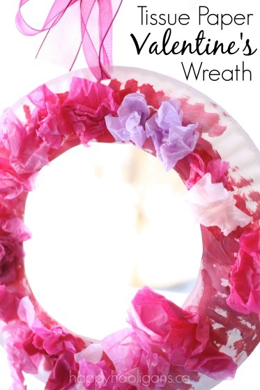 Valentines craft for kids - simple paper plate and tissue paper wreath  sc 1 st  Happy Hooligans & 5 More Easy Valentine Crafts for Toddlers - Happy Hooligans