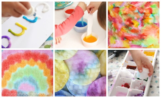 colour and water absorption experiments for kids