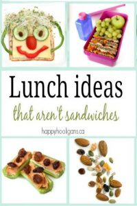 Kid Lunch Ideas that aren't sandwiches