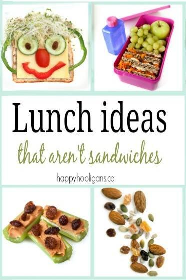 Kid Lunch Ideas that aren't sandwiches