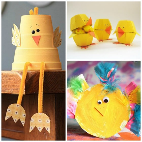 12 Easy Adorable Easter Chick Crafts Happy Hooligans