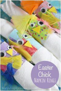 Easter Chick Napkin Rings