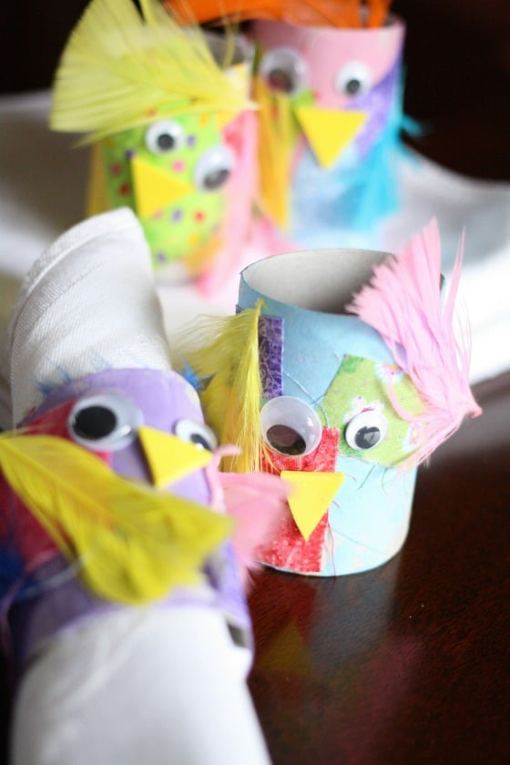 Easter napkin ring craft for kids