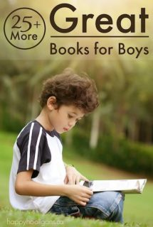 More Great Books for Boys - Happy Hooligans