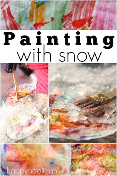 Painting with Snow – A Winter Art Activity for Preschoolers