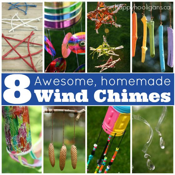 8 Homemade Wind Chimes for Kids - Happy Hooligans