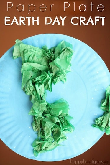 Paper Plate Earth Day Craft for Toddlers and Preschoolers