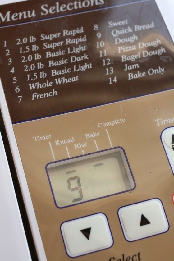 quick bread setting on bread machine