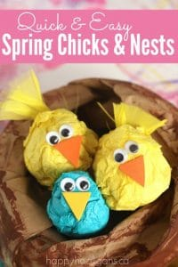 spring chick craft for preschoolers