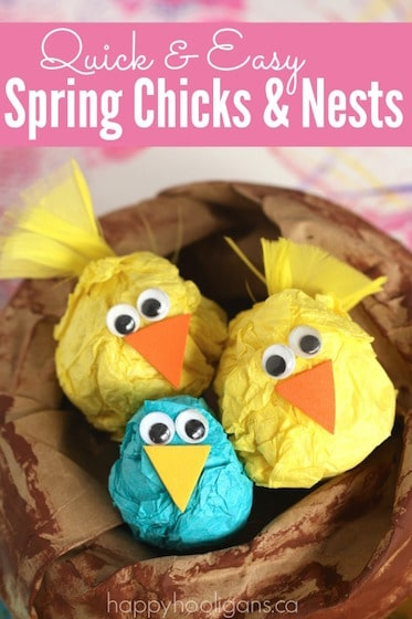 The Easiest Easter Chicks Ever (They're So Darn Cute!)