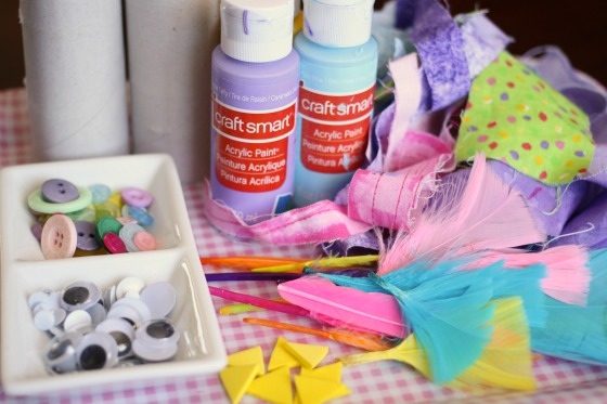 supplies for making toilet roll easter chick napkin rings
