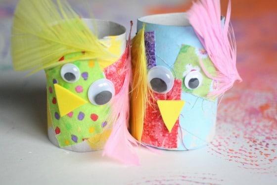 toilet roll easter craft for preschoolers