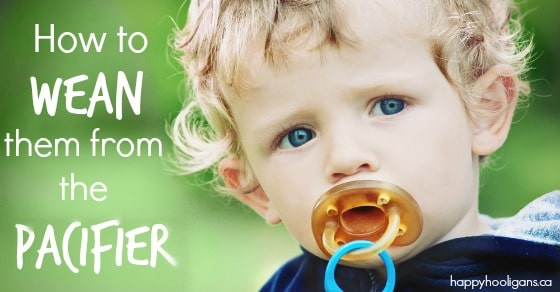 toddler with large pacifier in mouth