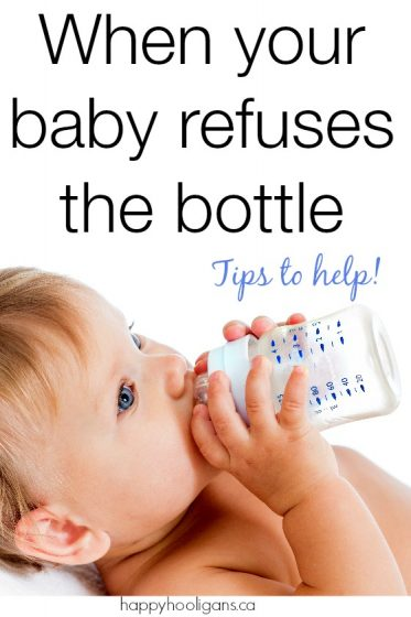 What to do when your baby won't take a bottle