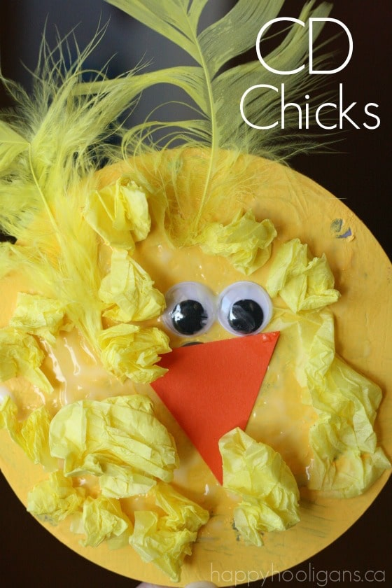 CD Chicks for preschoolers to make