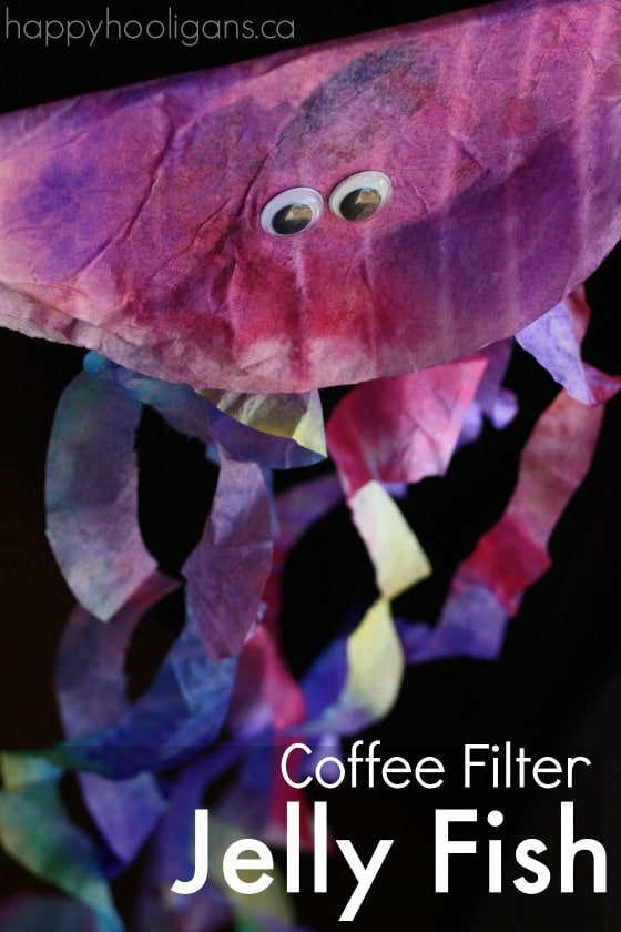 Coffee Filter Jellyfish Craft for Preschoolers