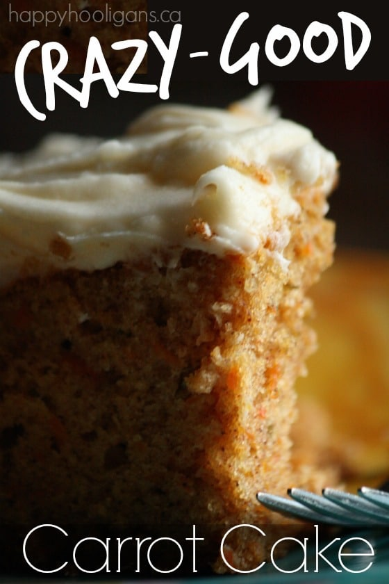 Crazy Good Carrot Cake Recipe with Cream Cheese Icing