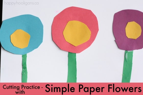 Paper Flowers Greeting Card for Kids to Make