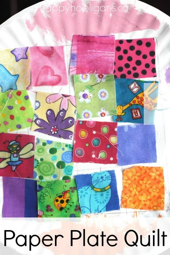 Paper Plate Quilt Craft for Preschoolers and Toddlers