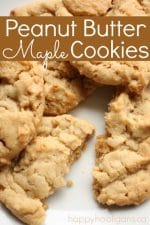 Soft and Chewy Peanut Butter Maple Cookies