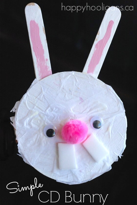 Simple CD Bunny Craft for Preschoolers and Toddlers