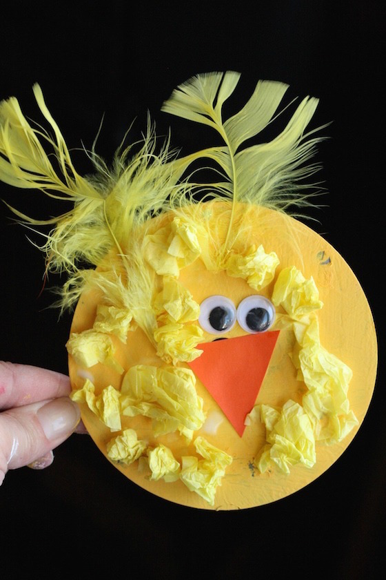 easy cd chick craft for easter