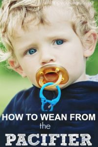 pacifier weaning - how to break the soother habit