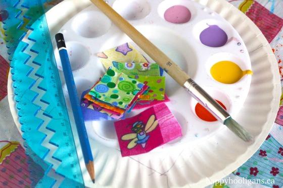 paper plate quilt supplies