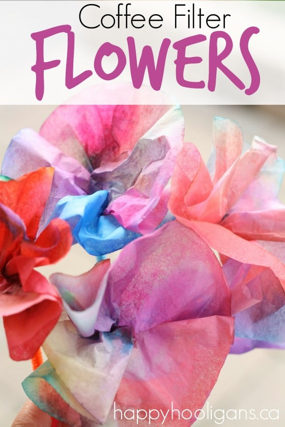Coffee Filter Flowers - Happy Hooligans
