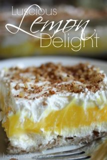 Easy Luscious Lemon Delight Dessert - Happy Hooligans copy