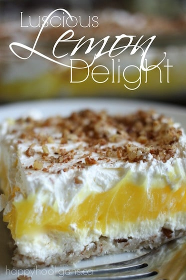 Luscious Lemon Delight: An Easy-to-Make, Layered Dessert