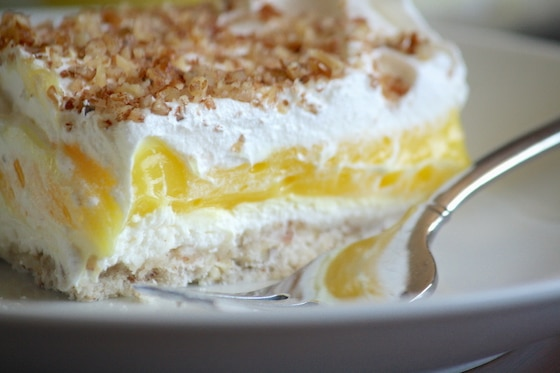 4 layered Lemon Delight Dessert Recipe