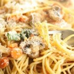 One Pot Pasta Sausage Basil Mushrooms copy