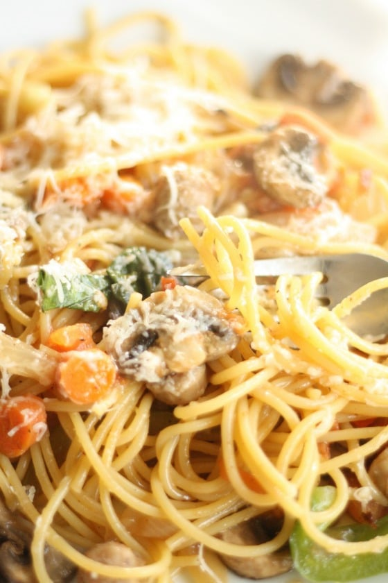 One Pot Pasta Sausage Basil Mushrooms copy