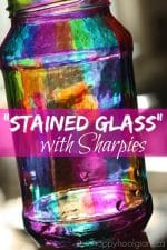 Create the Look of Stained Glass with Sharpie Markers and a Jar